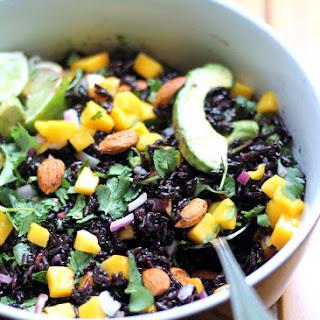 Mango & Avocado Black Rice Salad with Cilantro-Lime Vinaigrette Recipe