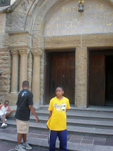 Photo: Miles Davis once performed in the chapel - I had to take a picture of Miles in front of it.