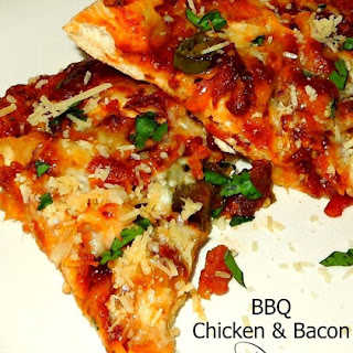 Barbecue Chicken And Bacon Pizza.