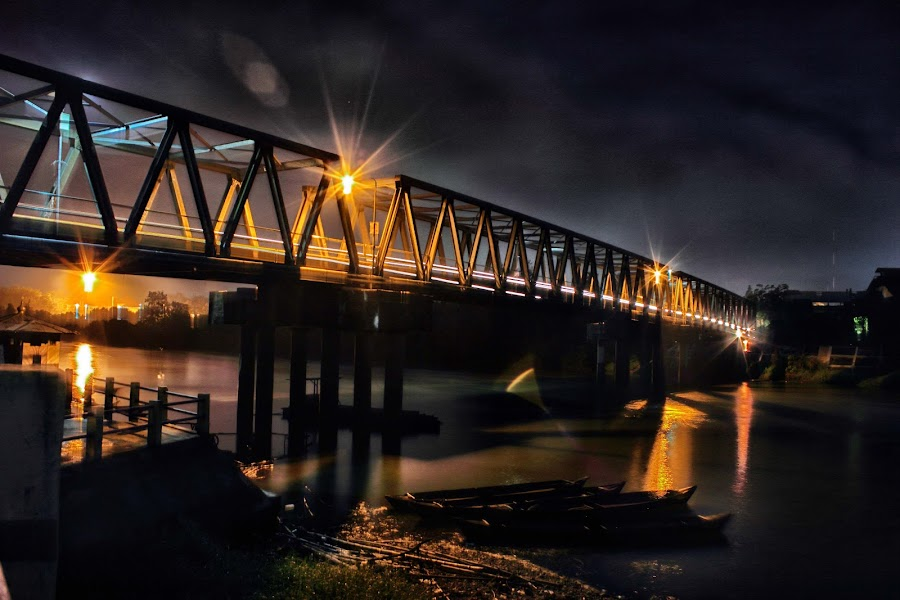 Night Bridge by Dhanie Cafry - Buildings & Architecture Bridges & Suspended Structures