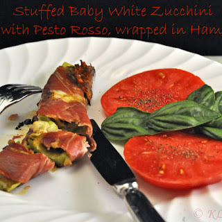 Stuffed Baby White Zucchini (Courgette)