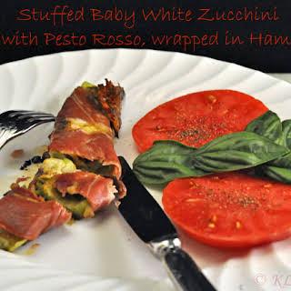Stuffed Baby White Zucchini (Courgette).