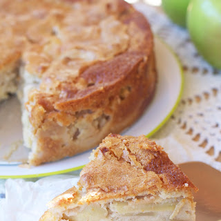 French Apple Custard Cake