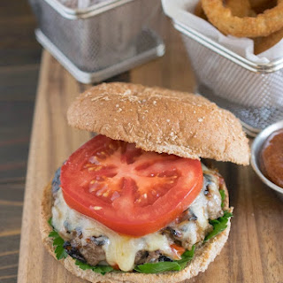 Caramelized Red Pepper & Onion Burger