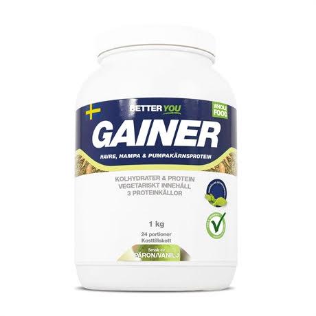 Better You Vegetarisk Gainer 1kg - Päron Vanilj