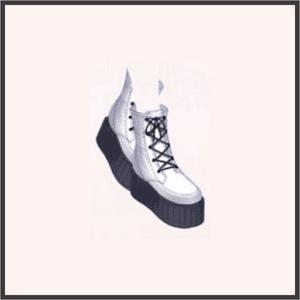 厚底ハイカット靴