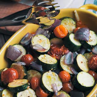 Roasted Italian Zucchini And Tomatoes.