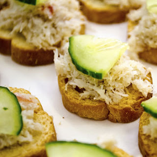 Open-Faced Crab Sandwiches.