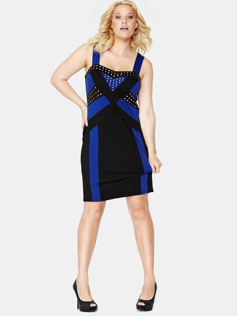 f6c9b2ea9a Új SO FABULOUS arany szegecses testhezálló elasztikus ruha 52 ...