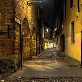 Play of light from streetlights..  by Hariharan Venkatakrishnan - City,  Street & Park  Night