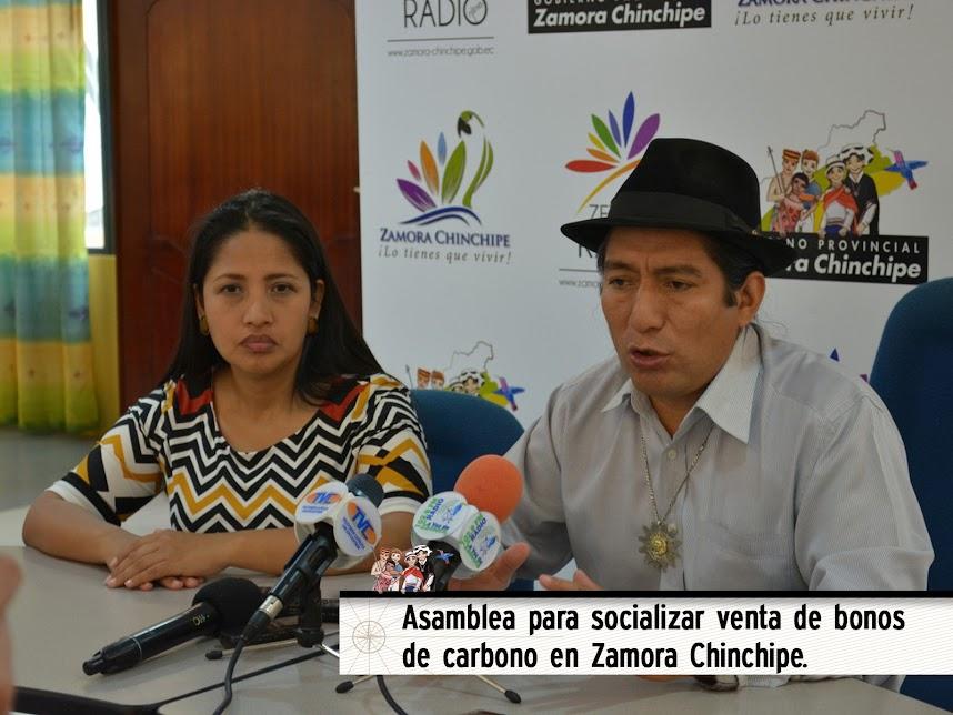 ASAMBLEA PARA SOCIALIZAR VENTA DE BONOS DE CARBONO EN ZAMORA CHINCHIPE.