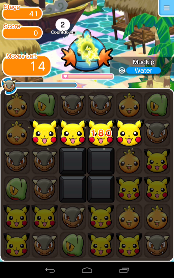Screenshots of Pokémon Shuffle Mobile for iPhone