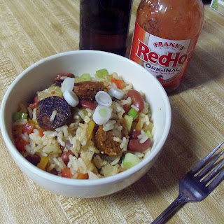 Dirty Rice with Beans & Andouille Sausage