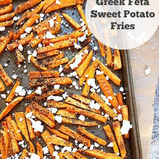 Greek Feta Sweet Potato Fries.