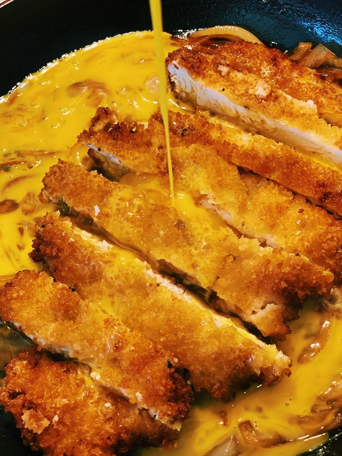 Chicken Katsu Don - Chicken Cutlet Rice Bowl