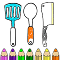 Kitchen Cooking Coloring Pages -Kids Coloring Book APK