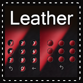 Luxury leather clock theme
