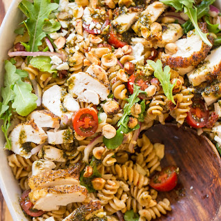 Whole Wheat Pasta Salad Honey Basil Balsamic Vinaigrette