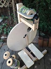 Photo: Louet s10 double treadle wheel for sale at my my studio
