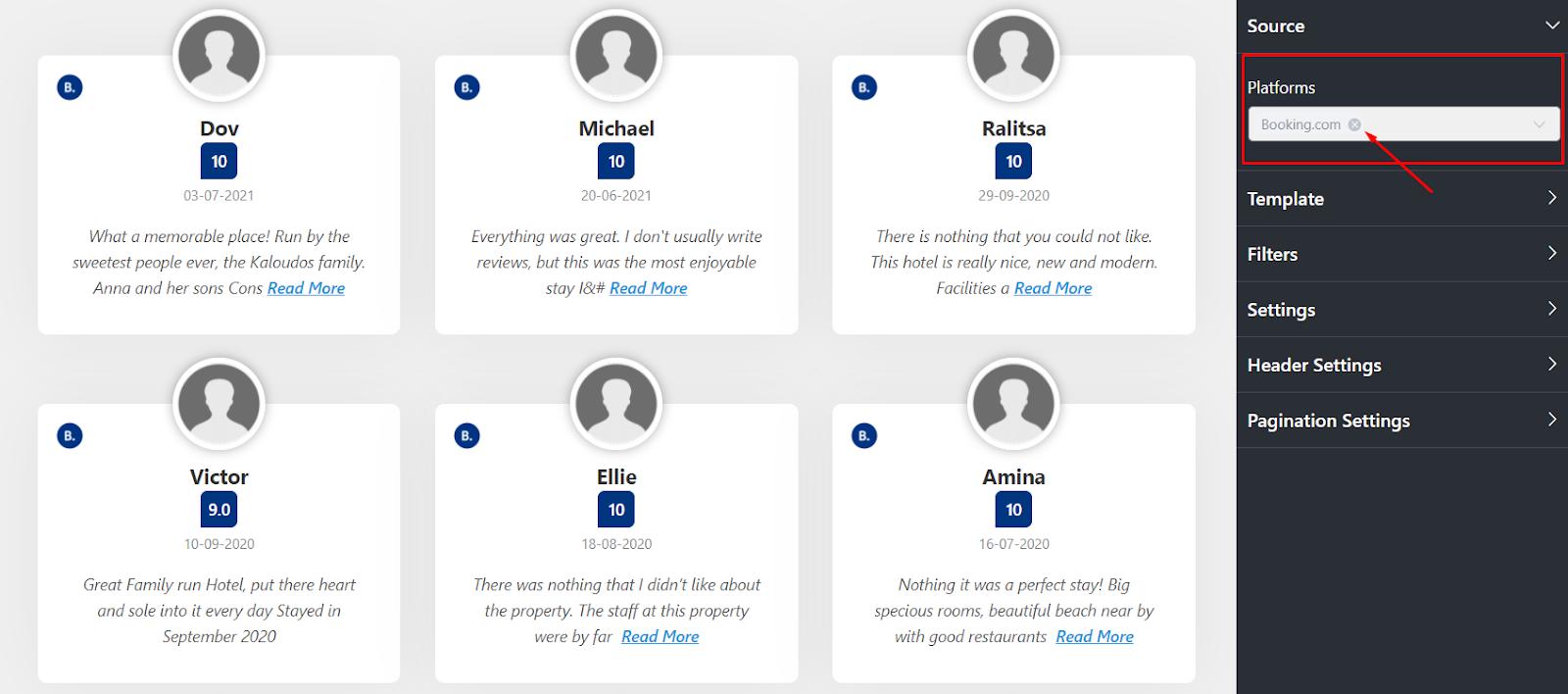 Booking.com reviews platforms