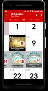 Thailand Calendar – Holiday & Note , Calendar 2020 3.3.1 APK with Mod + Data 3
