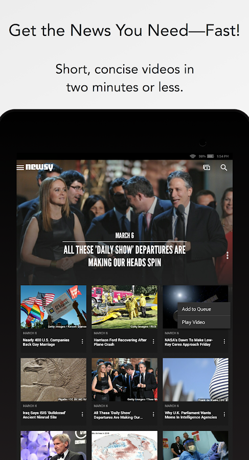 Newsy – Screenshot