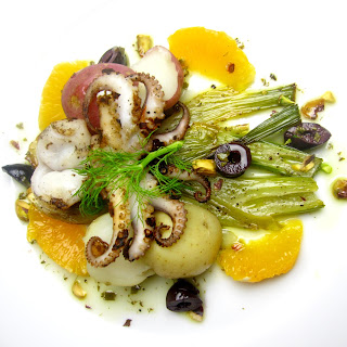 Marinated Baby Octopus with Roasted Fennel and Citrus
