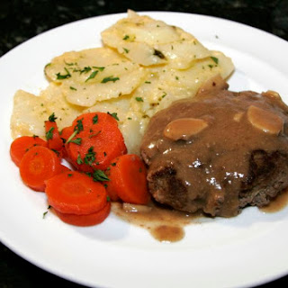 Hamburger Steaks With Mushroom Gravy.