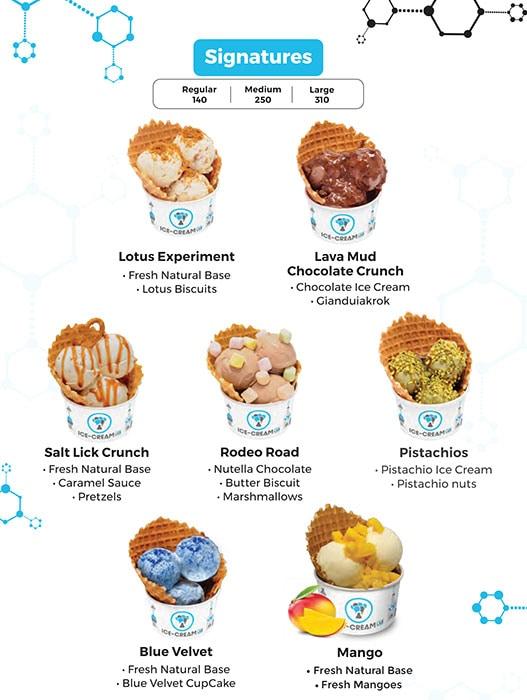 Ice Cream Lab menu 1