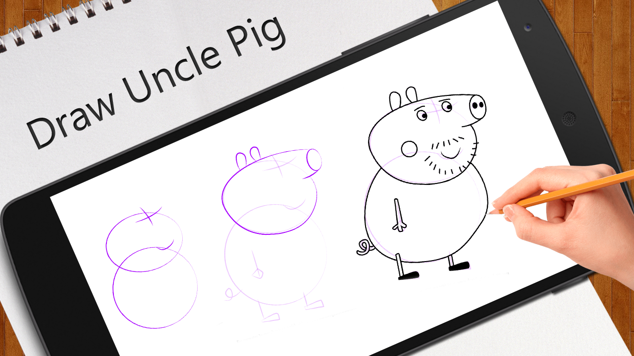 learn to draw peppa pig android apps on google play