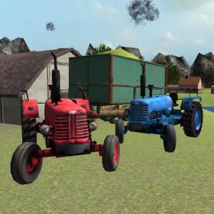 Олдтаймер трактор 3D: силос