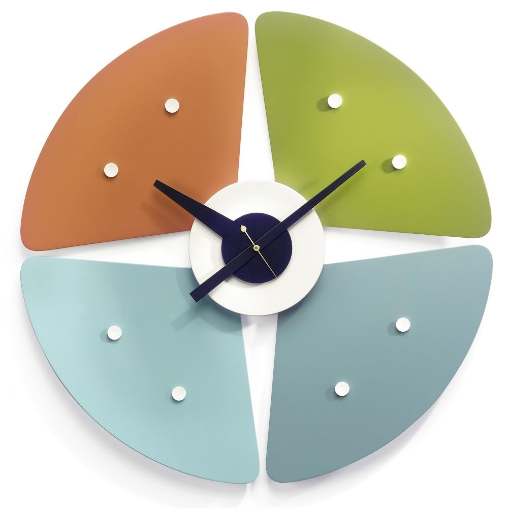 PETAL WALL CLOCK   DESIGNER REPRODUCTION