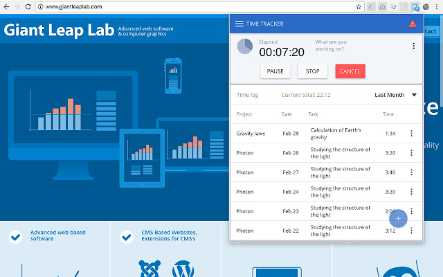 Time Worked Tracker for Joomla! CMS