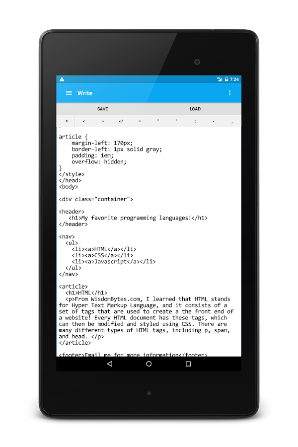 HTML Editor and Viewer- screenshot