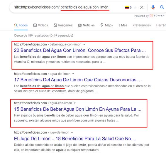canibalizaciones google