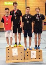 Photo: Alsace 2014 Double Hommes Cadets Médaille d'Or: Julien Prigent/Pierre Schiele