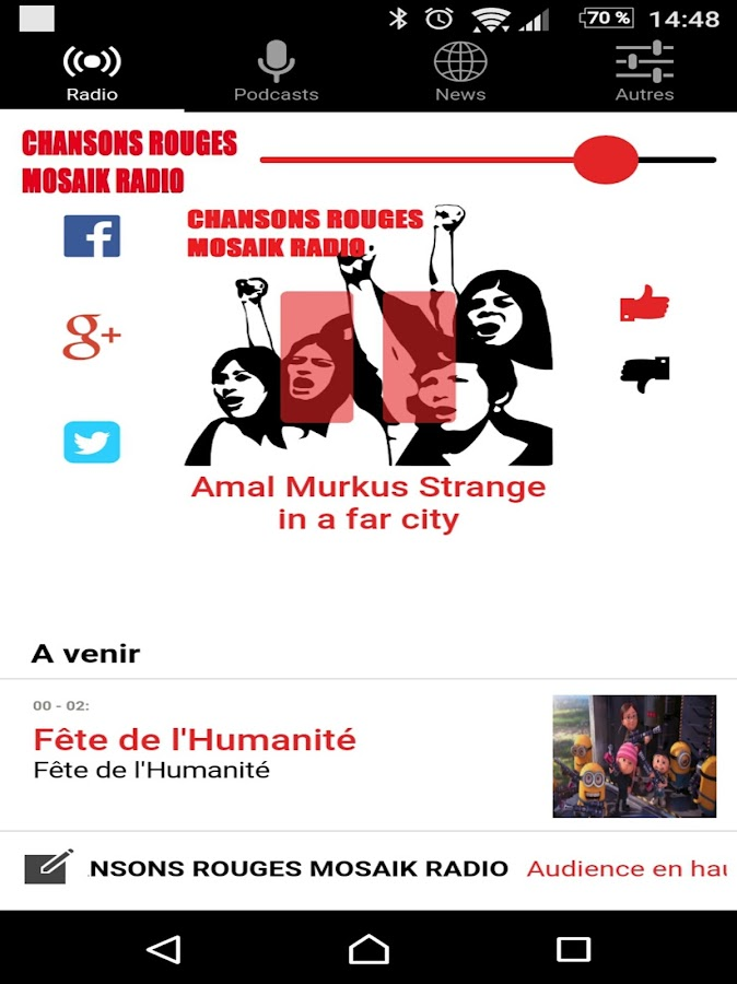 Chansons Rouges Mosaik Radio- screenshot