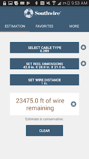 Southwire Partial Reel Calc- screenshot thumbnail