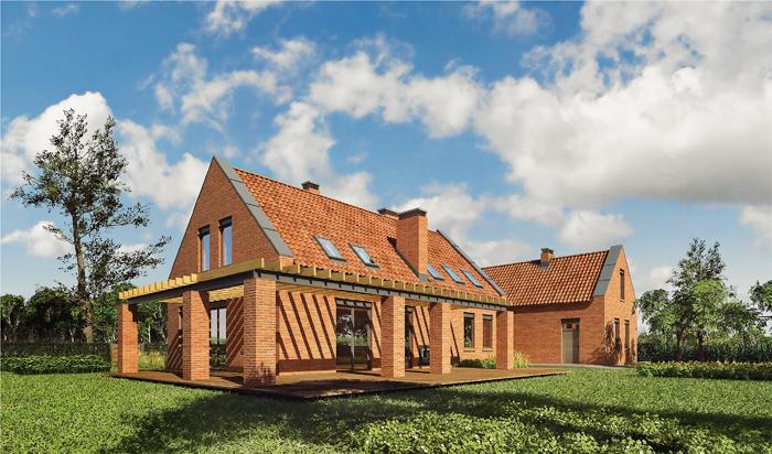 projekt domu dom nad jeziorem wariant i m124a tfy 523. Black Bedroom Furniture Sets. Home Design Ideas