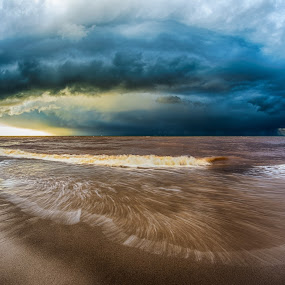Incoming by Brad Bellisle - Landscapes Weather ( water,  )