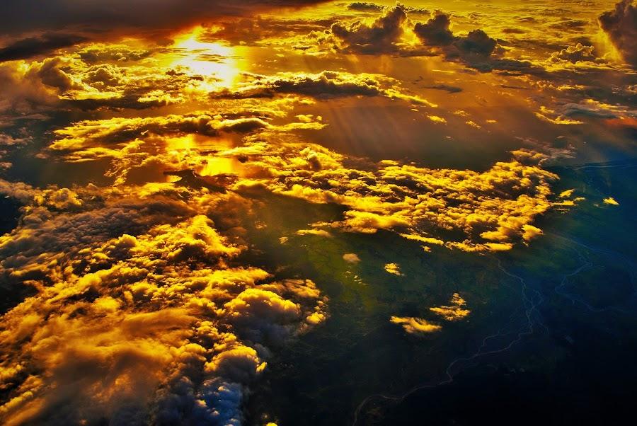 Sea of Clouds by Greg Crisostomo - Uncategorized All Uncategorized ( clouds, sea, shadows, rays, sun, golden light, , #GARYFONGDRAMATICLIGHT, #WTFBOBDAVIS )