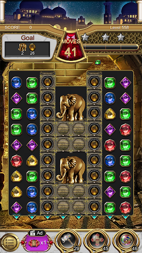 Jewels Magic Lamp : Match 3 Puzzle apkpoly screenshots 8