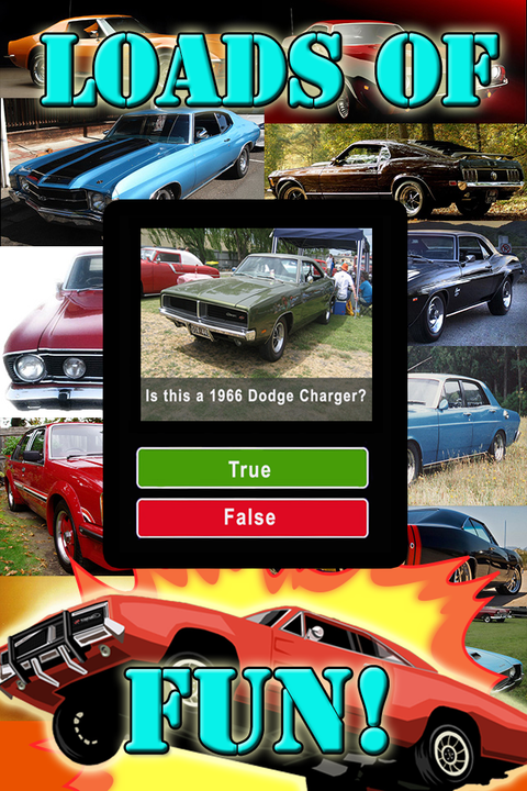 Muscle Cars Quiz American Pro True False Trivia Android Apps On