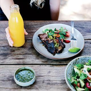 Short Ribs with Serrano Chimichurri and Jicama-Radish Salad