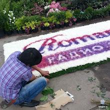 Photo: Пдготовка цветочной площадки радиостанции