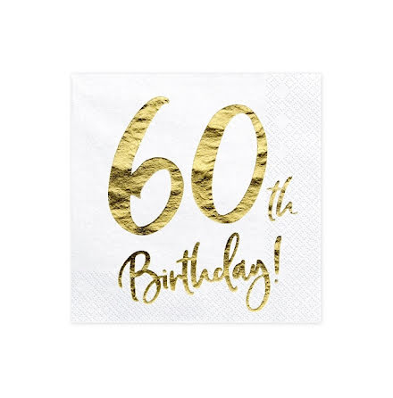 Servetter - 60th birthday