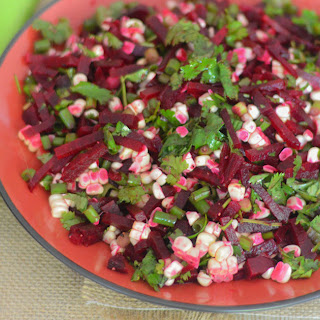 Fresh Beet + Corn Salad.