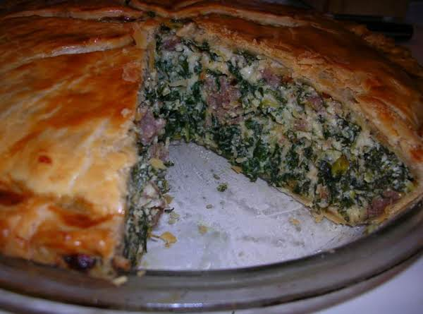 Kale And Sausage Pie Recipe