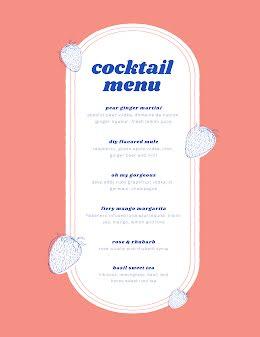 Cocktail Menu - Drinks Menu item
