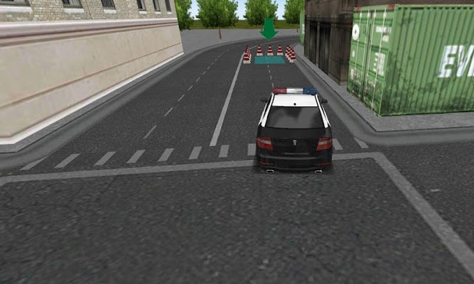police car parking simulator - screenshot